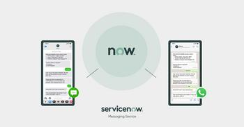 ServiceNow Introduces New Messaging Service to Help Organizations Connect with Customers and Employees Wherever They're Located: https://mms.businesswire.com/media/20211020005312/en/918252/5/servicenow-messaging-service-2x.jpg
