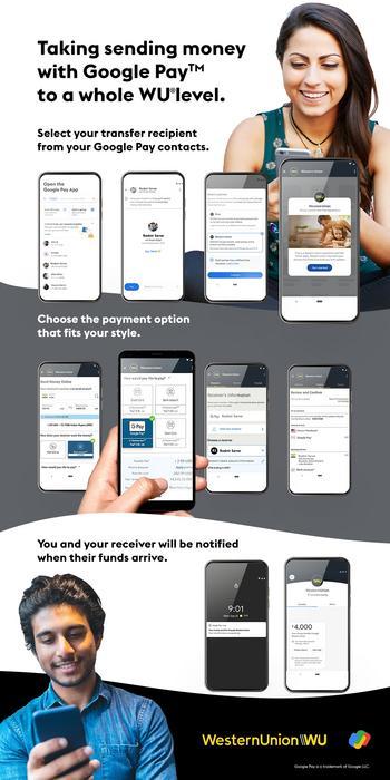 Western Union startet grenzüberschreitende Zahlungen auf Google Pay: https://mms.businesswire.com/media/20210511006293/de/877523/5/Asset_WU_Content_Google_Pay_Assets_Design_Latest_Version_%281%29.jpg