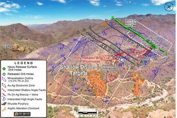 GR Silver Mining meldet oberflächennahe Silber- und Goldmineralisierung mit den Bohrergebnissen aus dem Gebiet der Mine Plomosas, Silberprojekt Plomosas: https://www.irw-press.at/prcom/images/messages/2020/52971/11-20-08_GR-Silver-News-Release_DEPRcom.001.jpeg