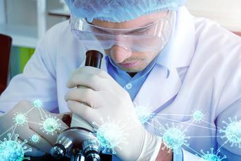 Ligand Trounces Q2 Estimates by Helping Companies Make COVID-19 Drug Remdesivir: https://g.foolcdn.com/editorial/images/585485/scientist-looking-through-microscope-with-coronavirus.jpg