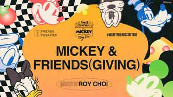 "Disney Teams Up With Award-Winning Chef and TV Host Roy Choi to Launch ""Mickey & Friends(giving),"" Inviting Fans to Celebrate the Holidays With a Twist: https://mms.businesswire.com/media/20201116005447/en/839033/5/4740025_Mickey_%26_Friends%28giving%29_-_Key_Art.jpg"