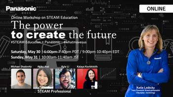 """Panasonic and Olympian Katie Ledecky to Host Online STEAM Education Workshop to Inspire Next Generation of """"Change Makers"""" Children: https://mms.businesswire.com/media/20200526005385/en/793836/5/52225529_PANASONIC_01_STEAM_education_2020_3.jpg"""