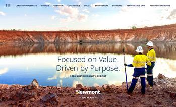 Newmont Publishes 2020 Sustainability Report: https://mms.businesswire.com/media/20210603005281/en/882633/5/8725_Newmont_2020_SR_cvr.jpg