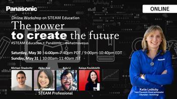 """Panasonic und die Olympionikin Katie Ledecky veranstalten einen Online-STEAM-Bildungsworkshop, um die nächste Generation von Kindern zu inspirieren, die """"Veränderungen bewirken"""": https://mms.businesswire.com/media/20200526005906/de/793836/5/52225529_PANASONIC_01_STEAM_education_2020_3.jpg"""