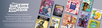 "shopDisney Debuts ""Buy a Book, Give a Book"" Program to Inspire Love of Storytelling: https://mms.businesswire.com/media/20210520005226/en/879905/5/5052877_mb_dpw-BOGO-April-20210415_2x-v6_%281%29.jpg"