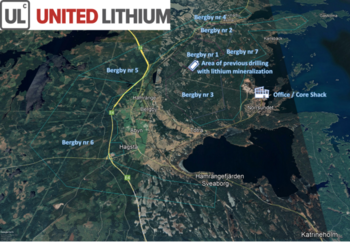 United Lithium Corp. Discovers Multiple Lithium Rich Boulder Trains at Bergby – Assays up to 3.33 Li2O: https://www.irw-press.at/prcom/images/messages/2021/61740/ULTH-BergbyExplPR_PRcom.005.png