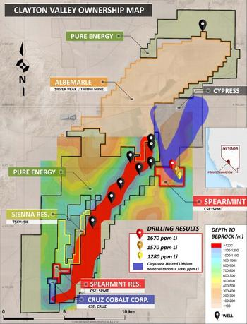 Spearmint Expands Clayton Valley Lithium Clay Drill Program After Successfully Encountering Clay in Every Hole Drilled to Date: https://www.irw-press.at/prcom/images/messages/2020/54053/100320_Spearmint_EN_PRcom.001.jpeg