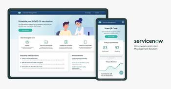 ServiceNow Helps Solve Challenges to Quickly Vaccinate People Against COVID-19: https://mms.businesswire.com/media/20210125005198/en/854103/5/vaccine-administration-management-solution-product-hero-2x.jpg
