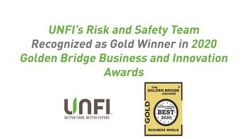 UNFI's Risk and Safety Team Recognized as Gold Winner in 2020 Golden Bridge Business and Innovation Awards: https://mms.businesswire.com/media/20201028005645/en/834003/5/UNFI_Golden_Bridge_Graphic_10.28.20.jpg