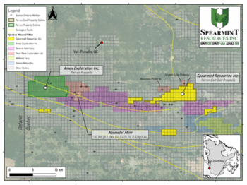 Spearmint Completes the Sampling Portion of the Phase I Work Program on the Perron-East Gold Project in Quebec: https://www.irw-press.at/prcom/images/messages/2020/54359/Spearmint(24.11.20)_EN_PRcom.001.png