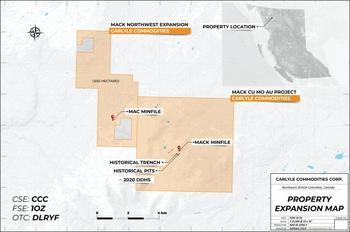 Carlyle and Hunter Dickinson Group Increase Land Package at Mack Copper-Molybdenum-Tungsten-Gold Project: https://www.irw-press.at/prcom/images/messages/2020/53977/Carlyle_Commodities_Corp_2020-10-27enPrcom.001.jpeg
