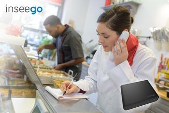 Inseego's New LTE Solution for Businesses Eliminates Need for Landlines: https://mms.businesswire.com/media/20200213005516/en/773357/5/woman_food_order_USB800_sm.jpg