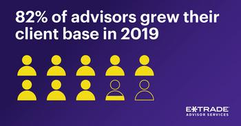 E*TRADE Advisor Services Study Reveals RIAs Poised for Growth in 2020 But Challenges Abound: https://mms.businesswire.com/media/20191224005112/en/764425/5/12-2019_ETCS-social_press-release-advisor-survey_900x424_v1b.jpg