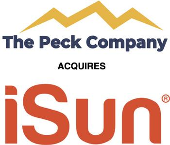 The Peck Company Holdings, Inc. Completes Name Change to iSun, Inc.: https://mms.businesswire.com/media/20210105005465/en/850147/5/combo_logo.jpg