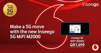 Vodafone Qatar Launches Powerful Next Generation 5G MiFi® from Inseego: https://mms.businesswire.com/media/20201214005266/en/846376/5/20200309_INSEEGO_5G_MIFI_M2000_LAUNCH_SM_FB_1200x628_E.jpg