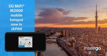 Inseego 5G MiFi® M2000 Now Available in Japan, Significantly Expanding Presence in the Region: https://mms.businesswire.com/media/20201211005139/en/846116/5/INSG5GMiFi_Japan_1200x628.jpg