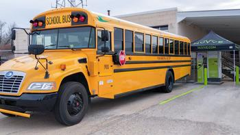 Blue Bird Delivers North America's First-Ever Commercial Application of Vehicle-to-Grid Technology in Electric School Bus Partnership with Nuvve and Illinois School Districts: https://mms.businesswire.com/media/20210323005889/en/866872/5/Nuvve-Blue_Bird-Pekins_Edited-2.jpg