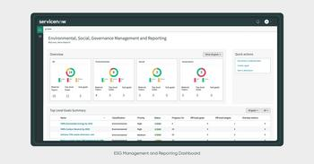ServiceNow Introduces New Integrated ESG Solution to Help Companies Drive Greater Environmental, Social, and Business Impact: https://mms.businesswire.com/media/20211012005312/en/915090/5/ESG_M%26R_Exec_Dashboard_1_name.jpg