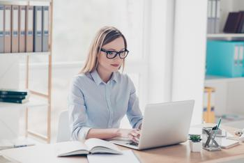 Fewer Women Are Pushing for Promotions and Raises, Data Shows: https://g.foolcdn.com/editorial/images/533718/woman-typing-on-laptop_gettyimages-962399650.jpg