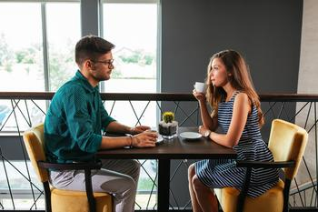 Americans Shy Away From Talking Money, Data Shows: https://g.foolcdn.com/editorial/images/533346/man-sitting-across-from-woman-at-table_gettyimages-991410918.jpg