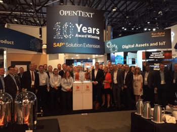 Is OpenText's Growth Slowing Too Fast?: https://g.foolcdn.com/editorial/images/534416/otex-conference-booth.png