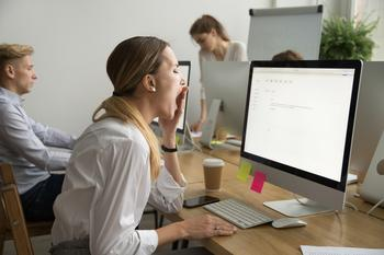 Half of Americans Feel They Just Have a Job: https://g.foolcdn.com/editorial/images/532819/woman-yawns-at-work.jpg