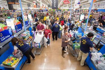 Walmart Sounds a Warning on the Economy: https://g.foolcdn.com/editorial/images/588532/slide-1-walmart-checkout-source-walmart.jpg