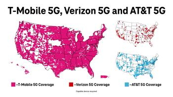 The Un-carrier Spirit Is Now an Actual Spirit. Introducing T-Mobile 5Gin and 5Ginger Beer: https://mms.businesswire.com/media/20210623005732/en/887208/5/6.23.21_5G_Map_Comparison.jpg
