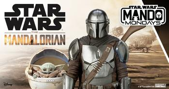 "Stars of The Mandalorian Kick Off Mando Mondays – the All-new Global Consumer Products Program Inspired by the Hit Lucasfilm Series ""The Mandalorian"" on Disney+: https://mms.businesswire.com/media/20201026005293/en/833211/5/Mando_Mondays_Key_Art.jpg"